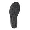Skórzane sandały na koturnach bata, czarny, 666-6609 - 26