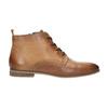 Skórzane botki zperforacją bata, brązowy, 596-4645 - 15