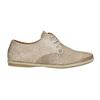 Skórzane półbuty damskie bata, beżowy, 526-8629 - 15