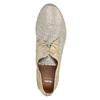 Skórzane półbuty damskie bata, beżowy, 526-8629 - 19