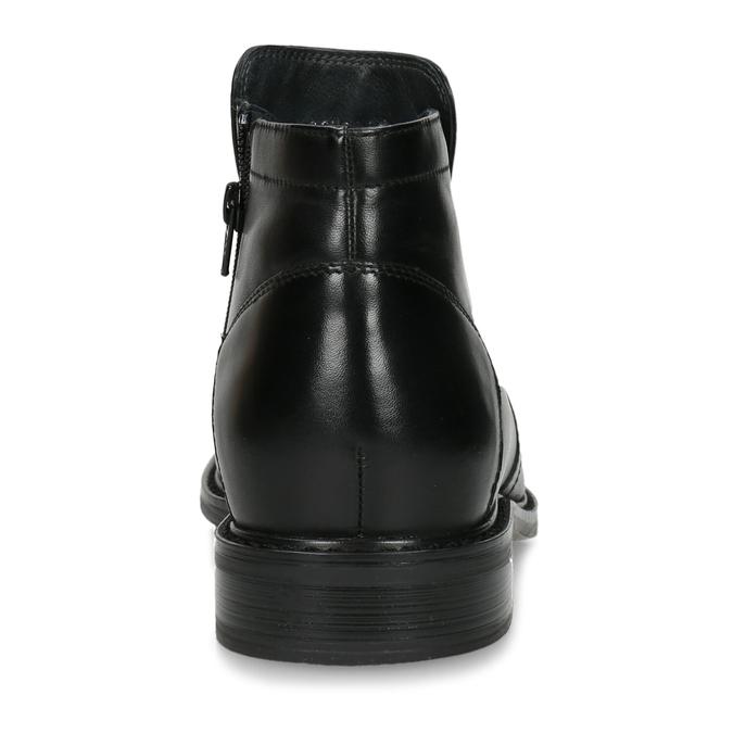 Skórzane ocieplane buty za kostkę bata, czarny, 894-6641 - 15