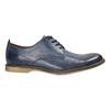 Granatowe skórzane półbuty bata, niebieski, 826-9601 - 15