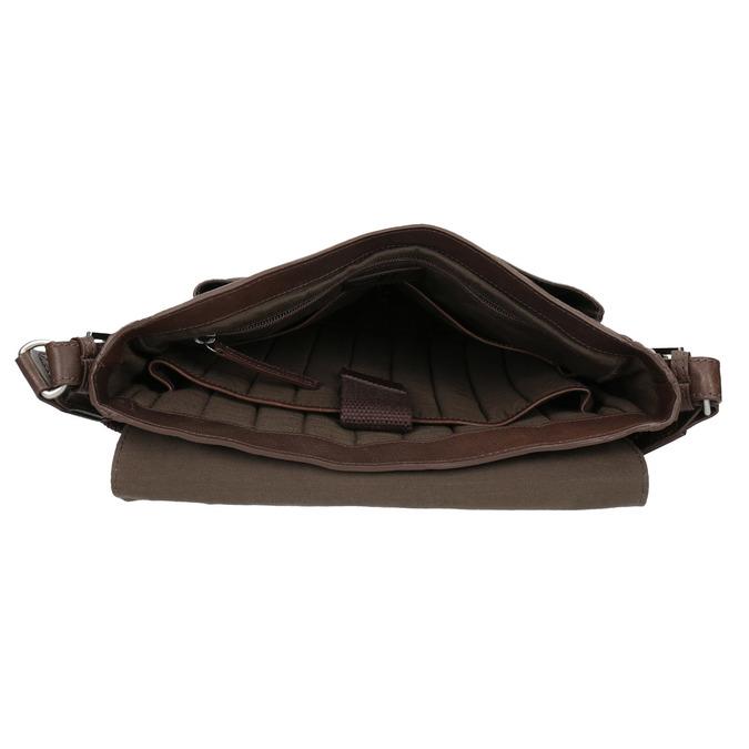 Skórzana torba typu crossbody bata, brązowy, 964-4222 - 15