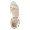 Sznurowane sandały na obcasach insolia, biały, 769-1613 - 19