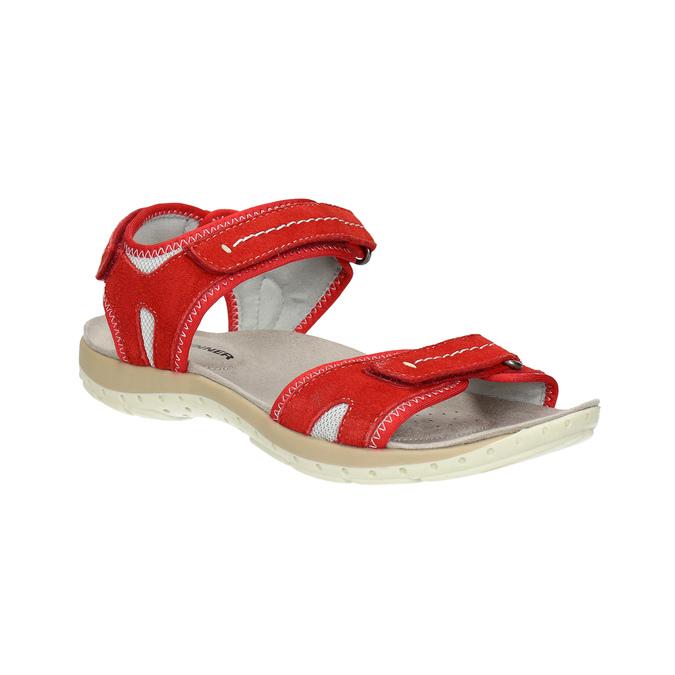 Czerwone sandały damskie ze skóry weinbrenner, czerwony, 566-5608 - 13