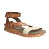 Skórzane sandały na kontrastowej podeszwie weinbrenner, brązowy, 566-4627 - 13