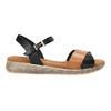 Sandały damskie na grubej podeszwie weinbrenner, czarny, 566-6626 - 15