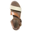 Skórzane sandały na kontrastowej podeszwie weinbrenner, brązowy, 566-4627 - 19