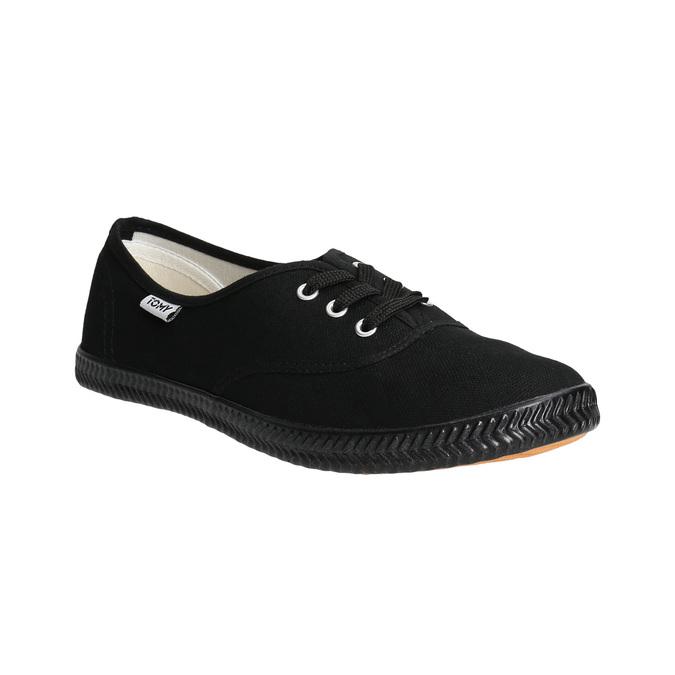 Czarne trampki damskie tomy-takkies, czarny, 589-6180 - 13