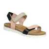 Skórzane sandały damskie na rzepy weinbrenner, różowy, 566-3630 - 13