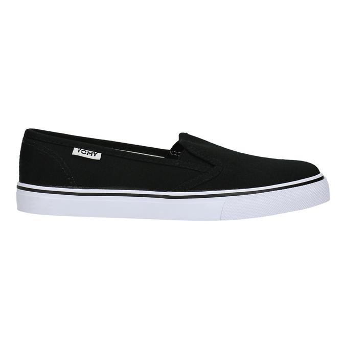 Czarne slip-on damskie tomy-takkies, czarny, 589-6170 - 15