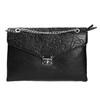 Mała czarna torebka zklapą bata, czarny, 961-6731 - 26