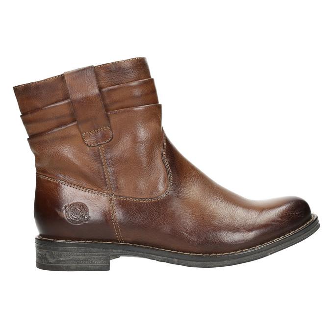 Skórzane botki kowbojki bata, brązowy, 594-4611 - 15