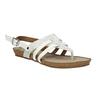 Korkowe sandały zpaskiem między palcami bata, biały, 561-1606 - 13