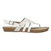 Korkowe sandały zpaskiem między palcami bata, biały, 561-1606 - 15