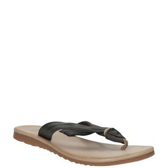 Skórzane japonki damskie bata, czarny, 566-6607 - 13