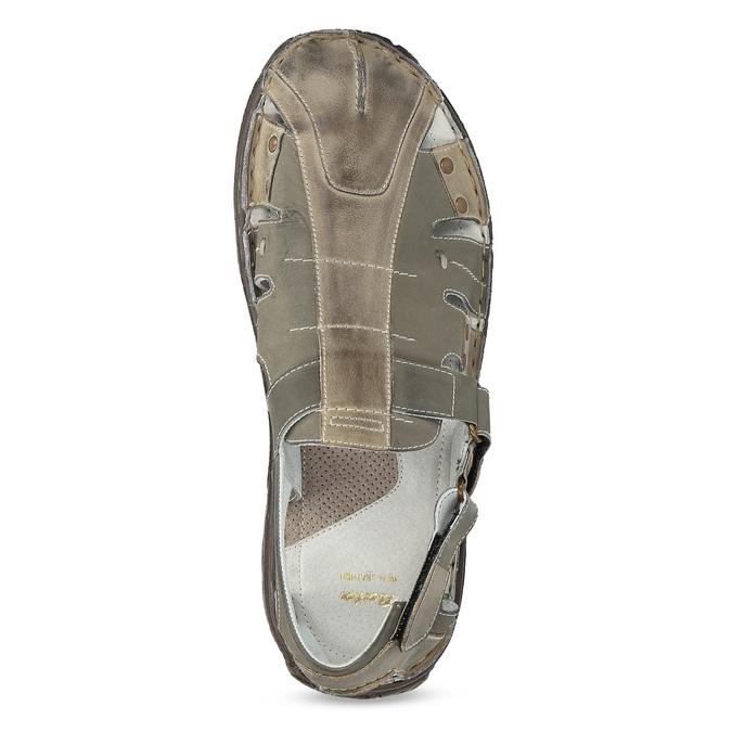 Brązowe skórzane sandały męskie bata, brązowy, 866-2622 - 17