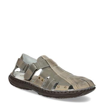 Brązowe skórzane sandały męskie bata, brązowy, 866-2622 - 13