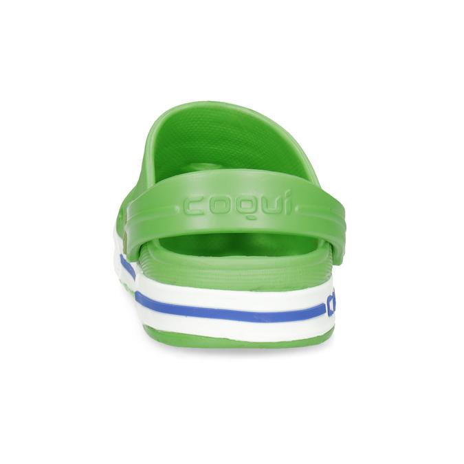 Zielone sandały dziecięce zżabkami coqui, zielony, 272-7603 - 15