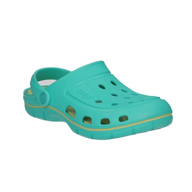 Turkusowe sandały damskie coqui, 572-9606 - 13