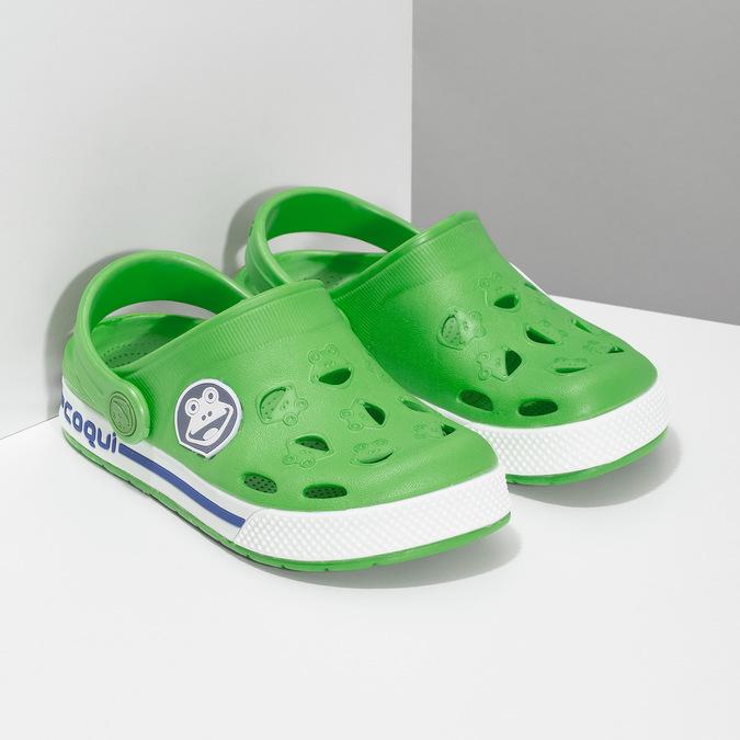 Zielone sandały dziecięce zżabkami coqui, zielony, 272-7603 - 26