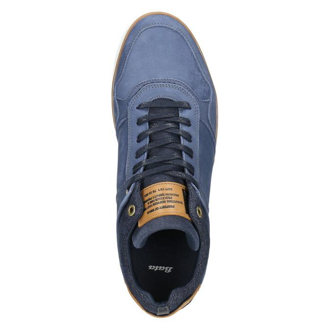 Skórzane trampki za kostkę bata, niebieski, 846-9641 - 26