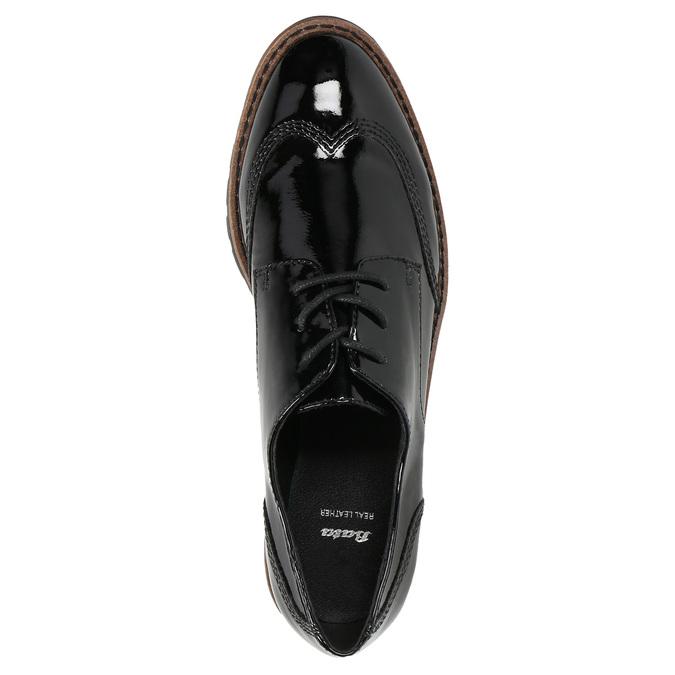 Lakierowane półbuty damskie bata, czarny, 521-6606 - 19