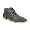 Szare skórzane obuwie za kostkę bata, szary, 826-2912 - 13