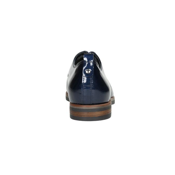 Skórzane półbuty damskie bata, niebieski, 528-9600 - 17