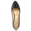 Skórzane czółenka damskie bata, czarny, 724-6649 - 19