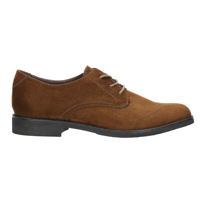 Brązowe półbuty damskie zprzeszyciami bata, brązowy, 529-4632 - 15