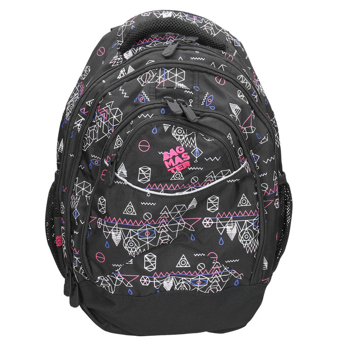 Plecak szkolny wdeseń bagmaster, czarny, 969-6650 - 26