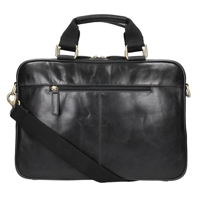 Skórzana torba unisex bata, czarny, 964-6204 - 26