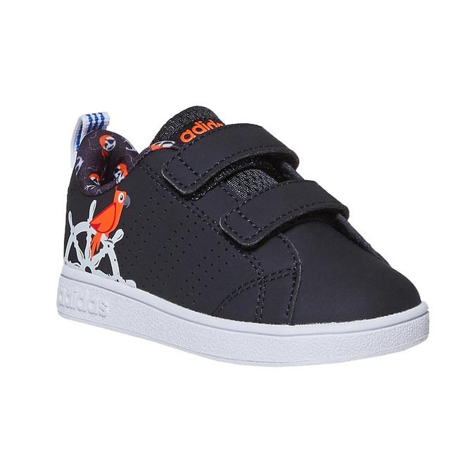 Trampki dziecięce znadrukiem adidas, czarny, 101-6133 - 13