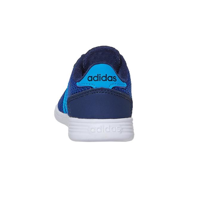Granatowe trampki chłopięce adidas, niebieski, 109-9288 - 17