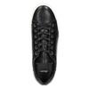 Skórzane trampki na kontrastowej podeszwie bata, czarny, 526-6641 - 26