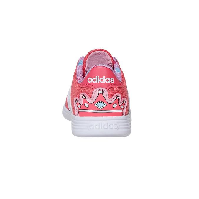 Różowe trampki dziewczęce adidas, różowy, 109-5288 - 17