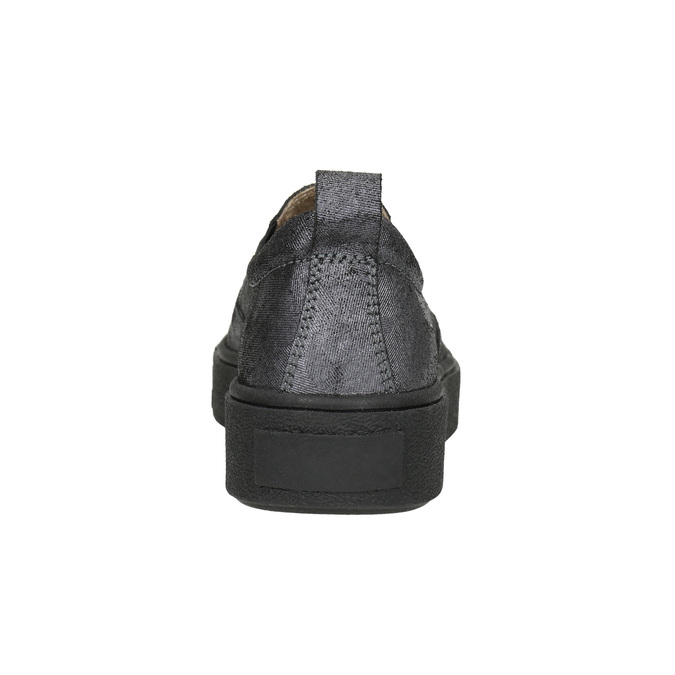 Slip-on damskie na czarnej platformie bata, szary, 516-1613 - 17