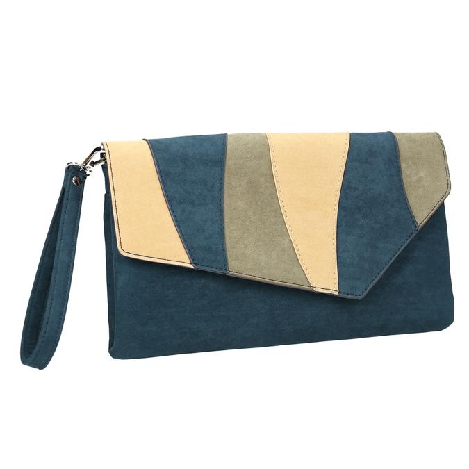 Niebieska kopertówka damska zpaskiem bata, niebieski, 969-9664 - 13
