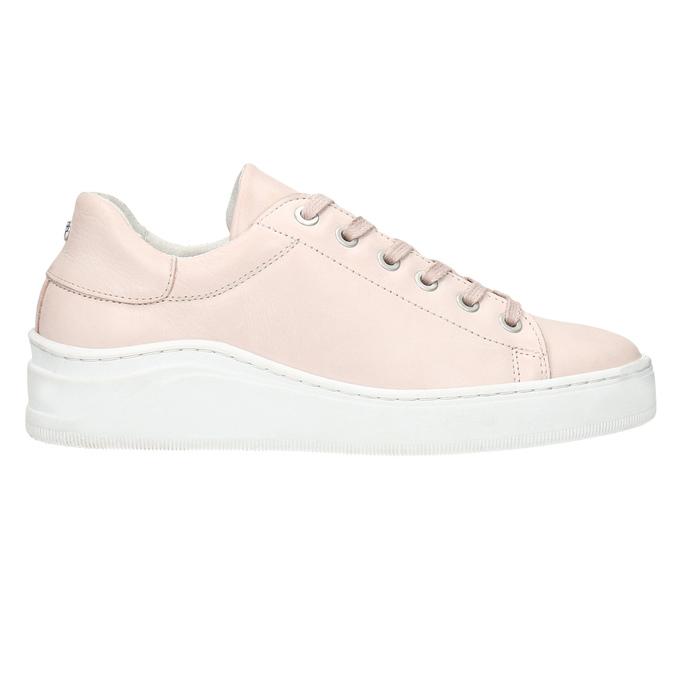 Skórzane trampki damskie bata, różowy, 526-5641 - 26