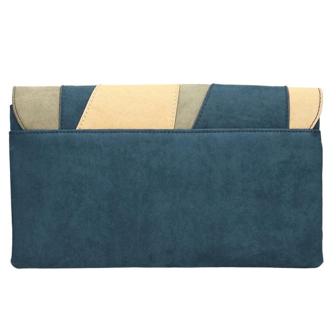 Niebieska kopertówka damska zpaskiem bata, niebieski, 969-9664 - 26