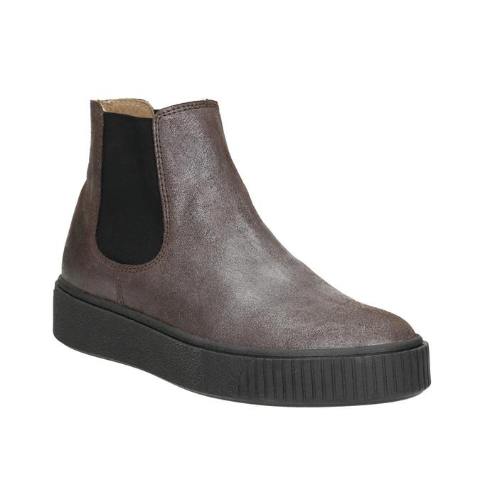 Skórzane obuwie damskie typu chelsea bata, brązowy, 596-1671 - 13