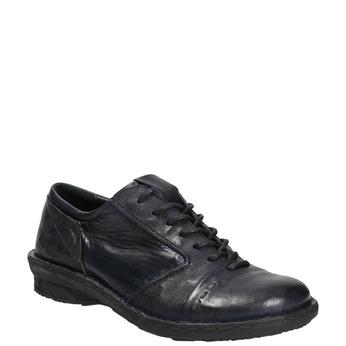 Skórzane półbuty damskie bata, niebieski, 526-9640 - 13