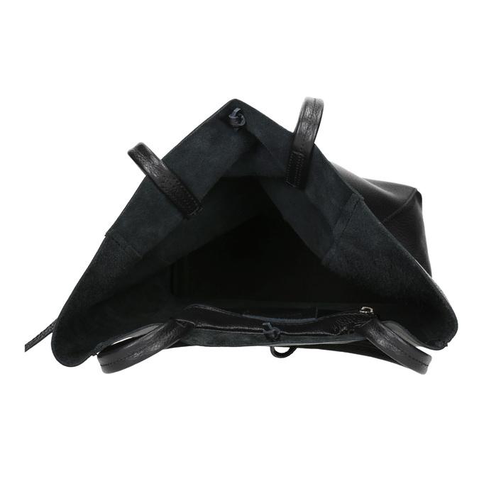 Skórzana torba wstylu shopper bata, czarny, 964-6122 - 15