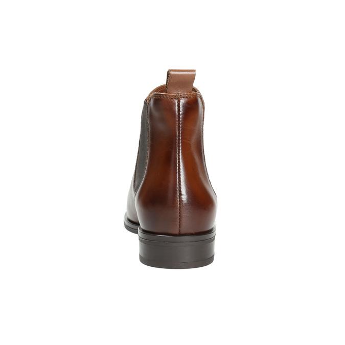 Skórzane buty damskie typu chelsea bata, brązowy, 594-4635 - 17