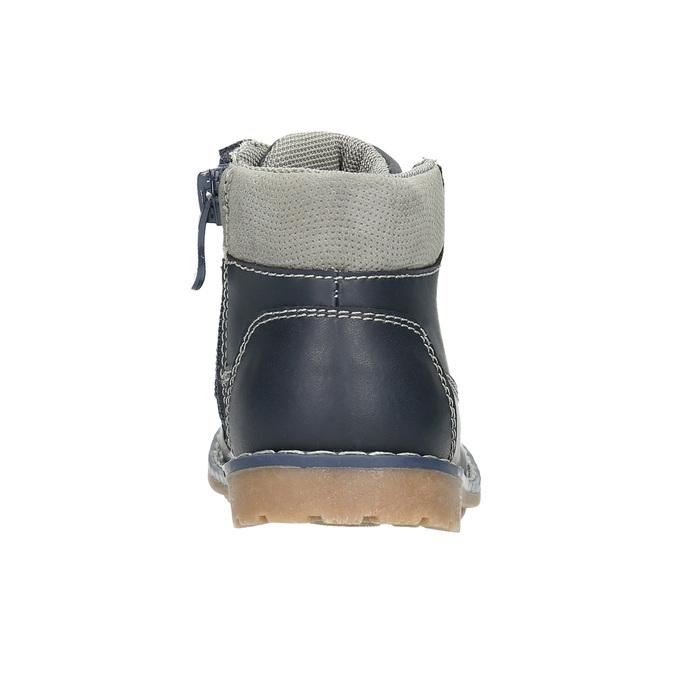 Skórzane obuwie dziecięce bubblegummer, niebieski, 114-9610 - 17