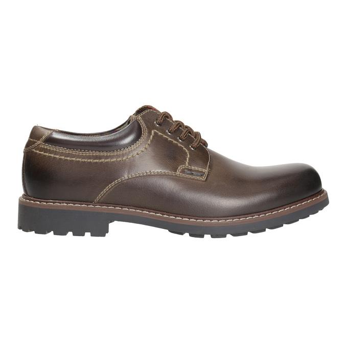 Skórzane półbuty męskie bata, brązowy, 826-4619 - 15