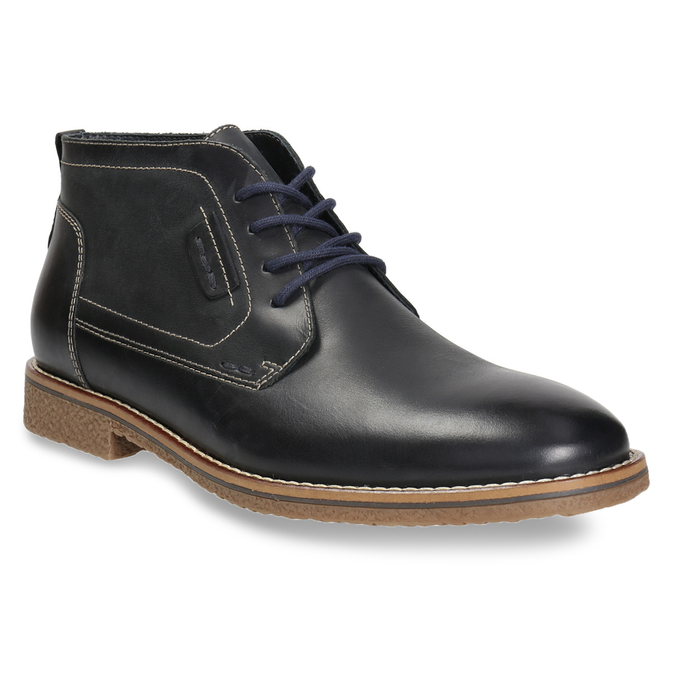 Obuwie męskie za kostkę, zprzeszyciami bata, czarny, 826-6614 - 13