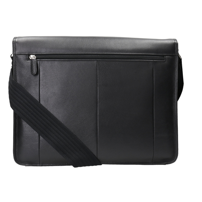 Skórzana torba z klapą picard, czarny, 964-6098 - 16