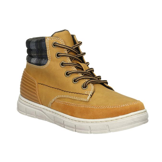 Zimowe obuwie dziecięce na kontrastowej podeszwie mini-b, brązowy, 311-8611 - 13